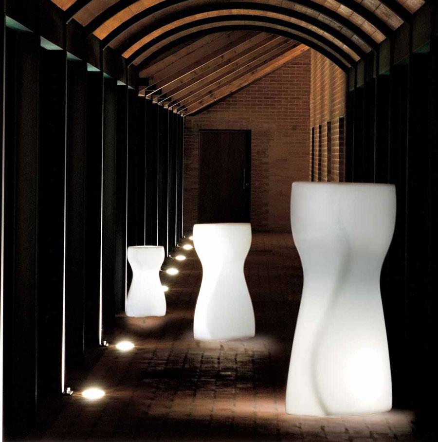 Varianty designových prvků Venus s integrovaným osvětlením jsou ve větším počtu ideální pro vytvoření působivého efktu.